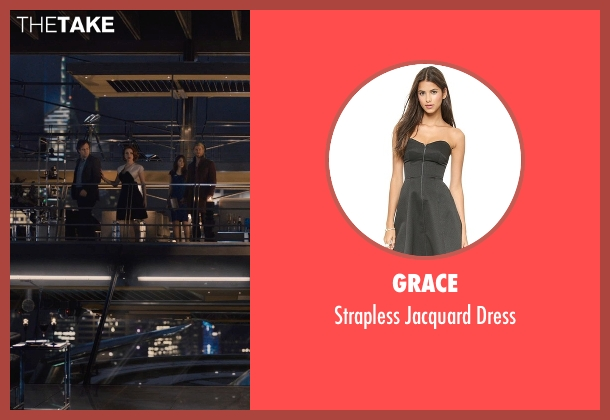 Grace black dress from Avengers: Age of Ultron seen with Scarlett Johansson (Natasha Romanoff / Black Widow)