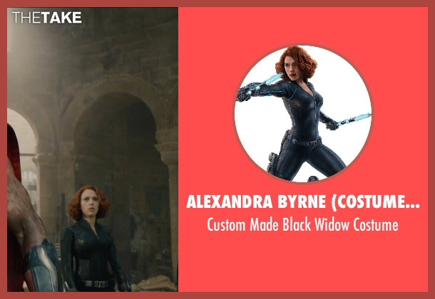 Alexandra Byrne (Costume Designer) costume from Avengers: Age of Ultron seen with Scarlett Johansson (Natasha Romanoff / Black Widow)