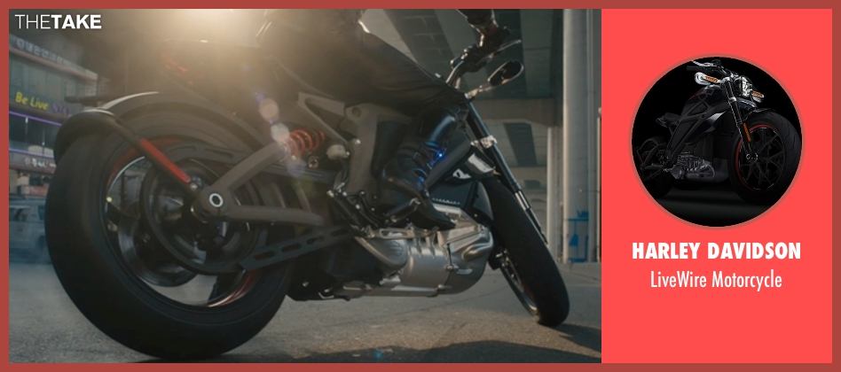 Harley Davidson motorcycle from Avengers: Age of Ultron seen with Scarlett Johansson (Natasha Romanoff / Black Widow)