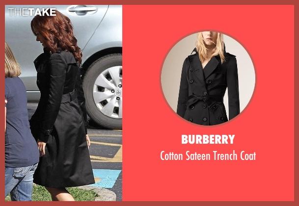 Burberry black coat from Captain America: Civil War seen with Scarlett Johansson (Natasha Romanoff / Black Widow)
