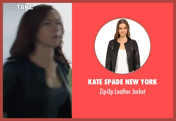 Kate Spade New York black jacket from Captain America: Civil War seen with Scarlett Johansson (Natasha Romanoff / Black Widow)