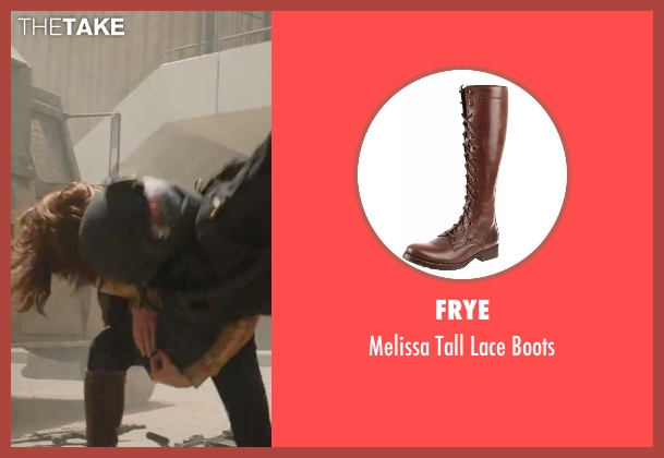 Frye brown boots from Captain America: Civil War seen with Scarlett Johansson (Natasha Romanoff / Black Widow)