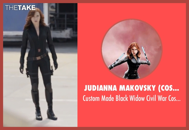 Judianna Makovsky (Costume Designer) costume from Captain America: Civil War seen with Scarlett Johansson (Natasha Romanoff / Black Widow)