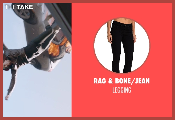 RAG & BONE/JEAN black legging from Captain America: The Winter Soldier seen with Scarlett Johansson (Natasha Romanoff / Black Widow)