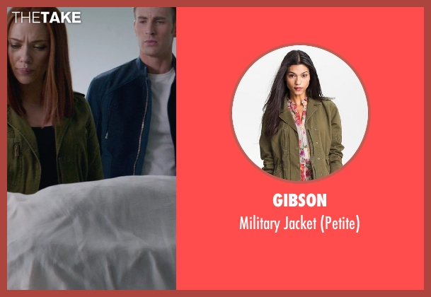 Gibson green jacket from Captain America: The Winter Soldier seen with Scarlett Johansson (Natasha Romanoff / Black Widow)
