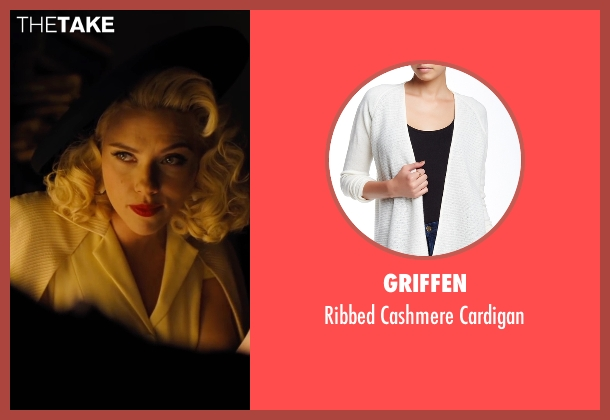 Griffen white cardigan from Hail, Caesar! seen with Scarlett Johansson (Unknown Character)
