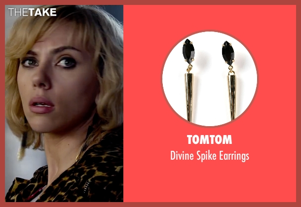 Tomtom black earrings from Lucy seen with Scarlett Johansson (Lucy)