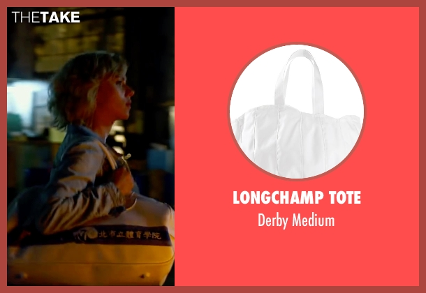Longchamp Tote white medium from Lucy seen with Scarlett Johansson (Lucy)