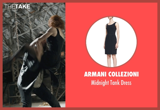 Armani Collezioni black dress from Marvel's The Avengers seen with Scarlett Johansson (Natasha Romanoff / Black Widow)