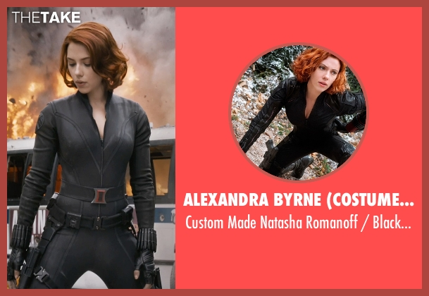 Alexandra Byrne (Costume Designer) costume from Marvel's The Avengers seen with Scarlett Johansson (Natasha Romanoff / Black Widow)