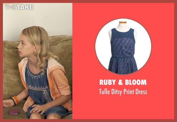 Ruby & Bloom blue dress from American Horror Story seen with Scarlett Lowe (Shree Crooks)