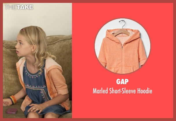 Gap orange hoodie from American Horror Story seen with Scarlett Lowe (Shree Crooks)
