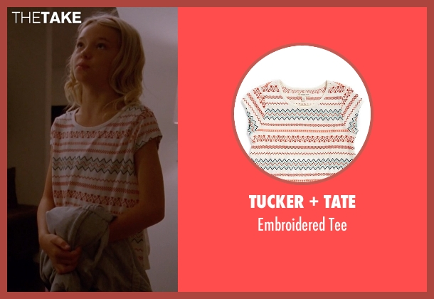 Tucker + Tate white tee from American Horror Story seen with Scarlett Lowe (Shree Crooks)