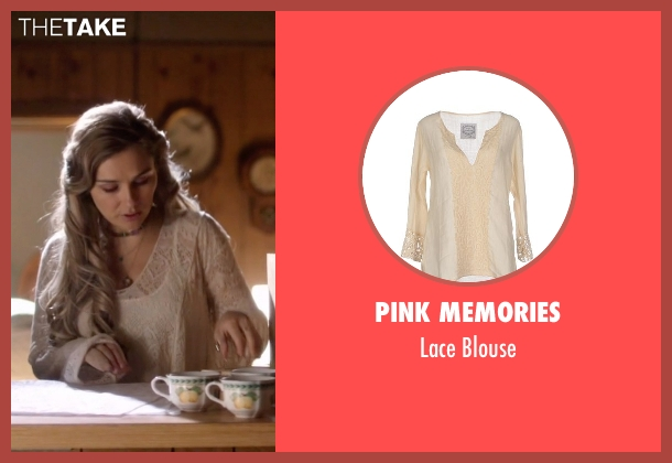 Pink Memories beige blouse from Nashville seen with Scarlett O'Connor (Clare Bowen)