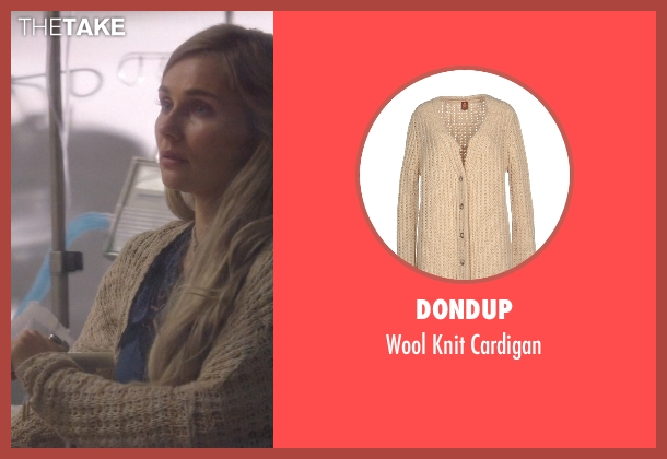 Dondup beige cardigan from Nashville seen with Scarlett O'Connor (Clare Bowen)