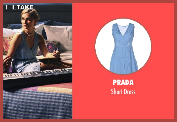 Prada blue dress from Nashville seen with Scarlett O'Connor (Clare Bowen)