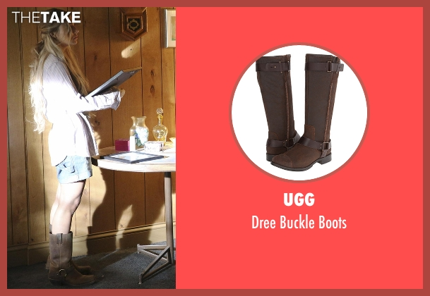 UGG brown boots from Nashville seen with Scarlett O'Connor (Clare Bowen)