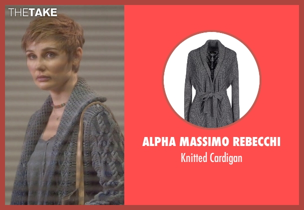 Alpha Massimo Rebecchi gray cardigan from Nashville seen with Scarlett O'Connor (Clare Bowen)