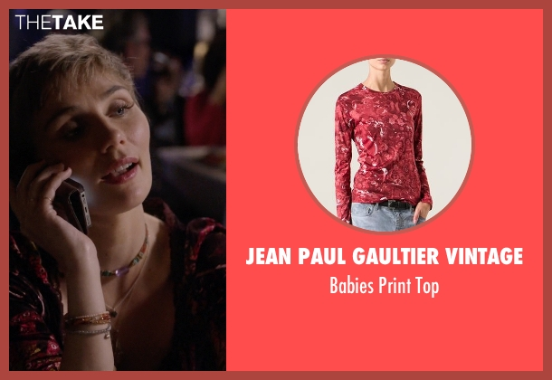 Jean Paul Gaultier Vintage red top from Nashville seen with Scarlett O'Connor (Clare Bowen)