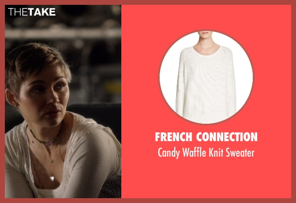 French Connection white sweater from Nashville seen with Scarlett O'Connor (Clare Bowen)
