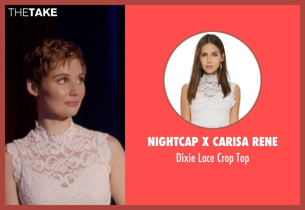 Nightcap X Carisa Rene white top from Nashville seen with Scarlett O'Connor (Clare Bowen)
