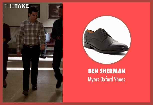 Ben Sherman black shoes from New Girl seen with Schmidt (Max Greenfield)