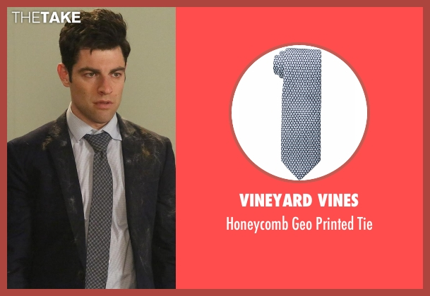 Vineyard Vines blue tie from New Girl seen with Schmidt (Max Greenfield)