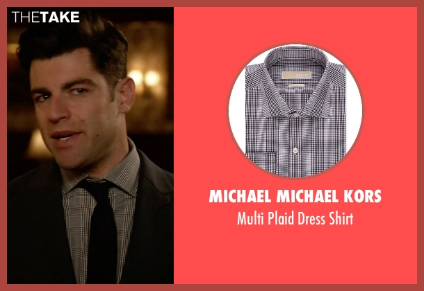 Michael Michael Kors gray shirt from New Girl seen with Schmidt (Max Greenfield)