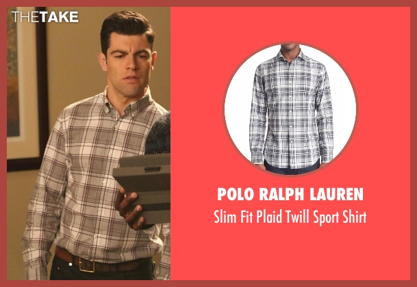 Polo Ralph Lauren gray shirt from New Girl seen with Schmidt (Max Greenfield)