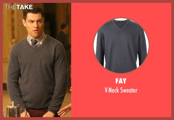 Fay gray sweater from New Girl seen with Schmidt (Max Greenfield)
