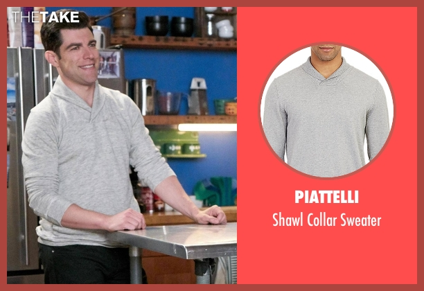 Piattelli gray sweater from New Girl seen with Schmidt (Max Greenfield)
