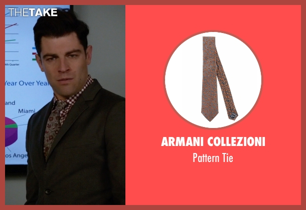 Armani Collezioni gray tie from New Girl seen with Schmidt (Max Greenfield)