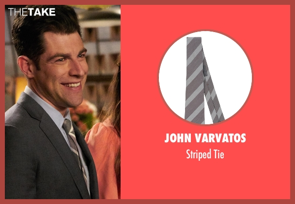 John Varvatos gray tie from New Girl seen with Schmidt (Max Greenfield)