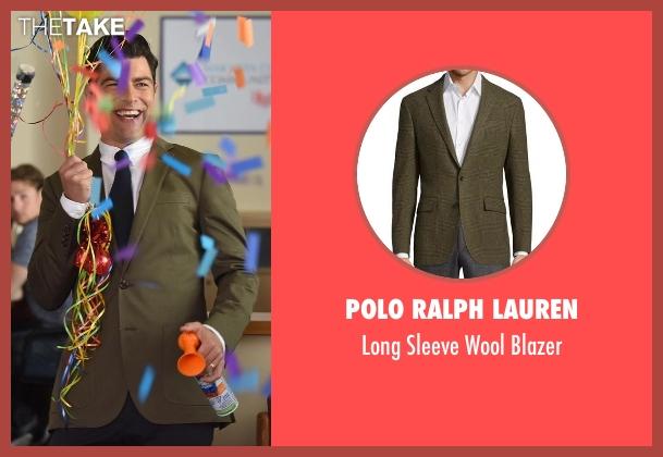 Polo Ralph Lauren green blazer from New Girl seen with Schmidt (Max Greenfield)