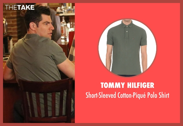 Tommy Hilfiger green shirt from New Girl seen with Schmidt (Max Greenfield)