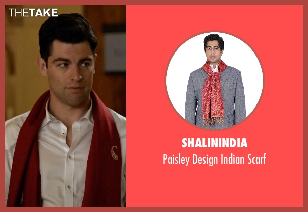ShalinIndia red scarf from New Girl seen with Schmidt (Max Greenfield)