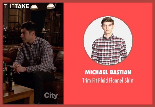 Michael Bastian red shirt from New Girl seen with Schmidt (Max Greenfield)