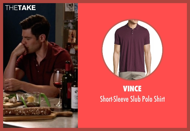 Vince red shirt from New Girl seen with Schmidt (Max Greenfield)