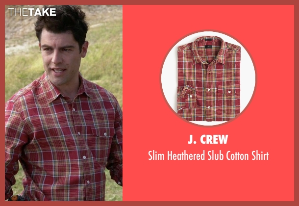 J. Crew red shirt from New Girl seen with Schmidt (Max Greenfield)