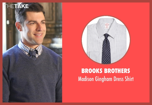 Brooks Brothers white shirt from New Girl seen with Schmidt (Max Greenfield)