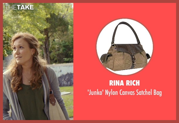 Rina Rich beige bag from The Best of Me seen with Schuyler Fisk (April)