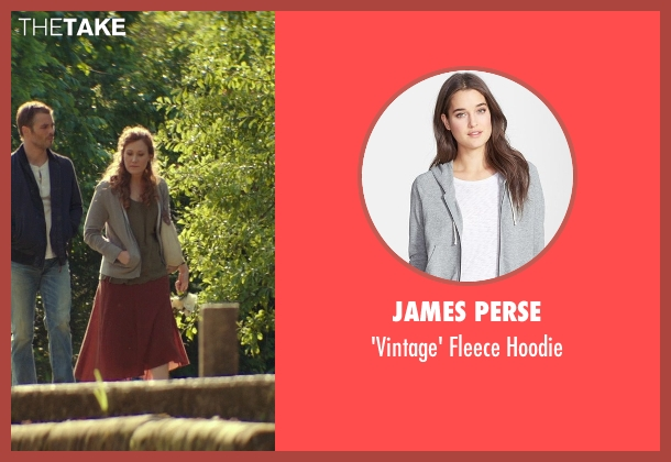 James Perse gray hoodie from The Best of Me seen with Schuyler Fisk (April)