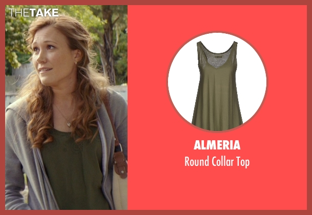 Almeria green top from The Best of Me seen with Schuyler Fisk (April)