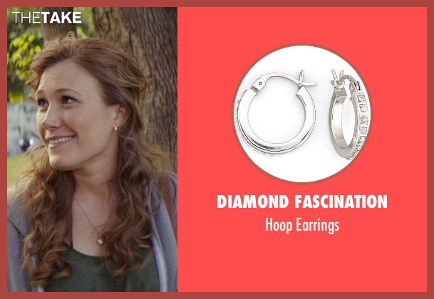 Diamond Fascination silver earrings from The Best of Me seen with Schuyler Fisk (April)