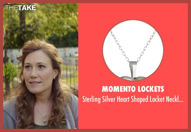 Momento Lockets silver necklace from The Best of Me seen with Schuyler Fisk (April)