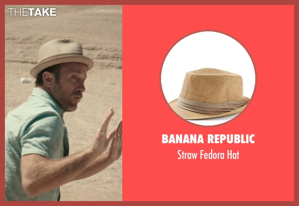 Banana Republic beige hat from Rock The Kasbah seen with Scott Caan (Unknown Character)