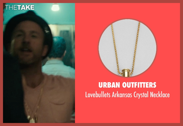 Urban Outfitters gold crystal necklace from Rock The Kasbah seen with Scott Caan (Unknown Character)