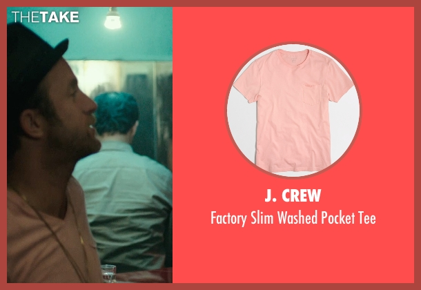 J. Crew pink tee from Rock The Kasbah seen with Scott Caan (Unknown Character)