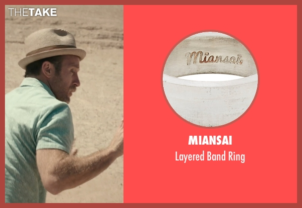 Miansai silver ring from Rock The Kasbah seen with Scott Caan (Unknown Character)