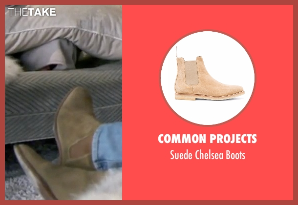 Common Projects beige boots from Keeping Up With The Kardashians seen with Scott Disick
